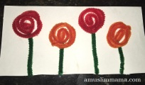 toddler flower craft pipe cleaner (3)
