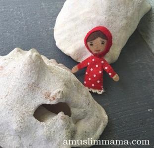 Felt Muslim doll finger puppet DIY (26)