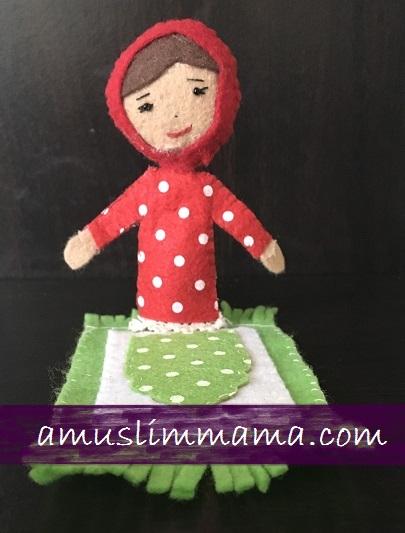 Felt Muslim doll finger puppet DIY (27)