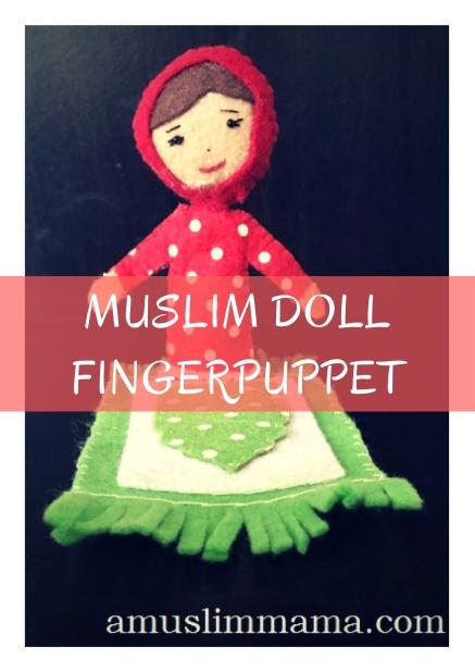 Felt Muslim doll finger puppet DIY (28)