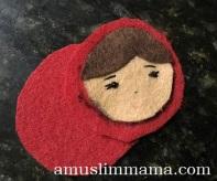 Felt Muslim doll finger puppet DIY (32)