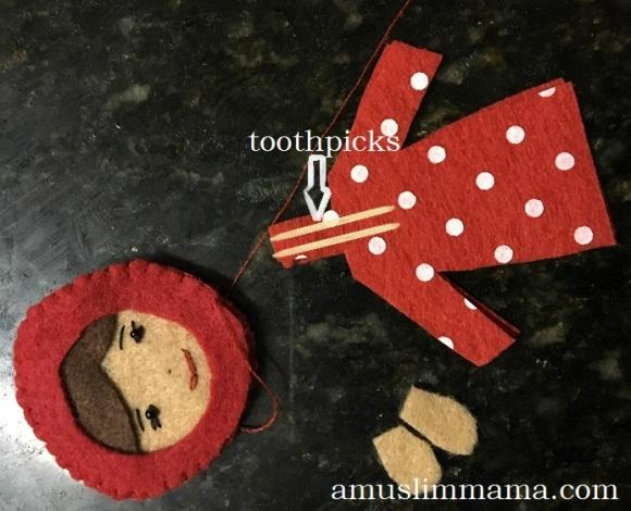 Felt Muslim doll finger puppet DIY (34)