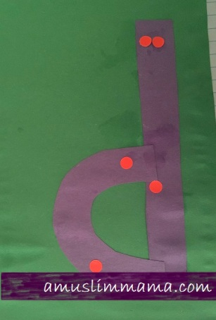 Letter D pre schooler and Toddler craft (7)
