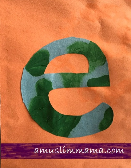 Letter E crafts for toddlers and preschoolers (2)
