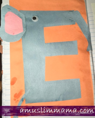 Letter E crafts for toddlers and preschoolers (8)