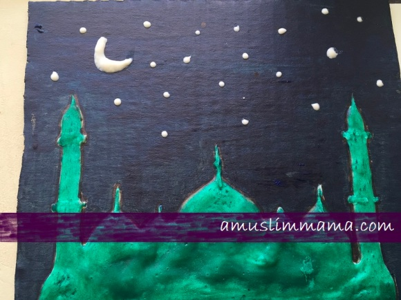 Masjif puffy paint Ramadan craft (13)