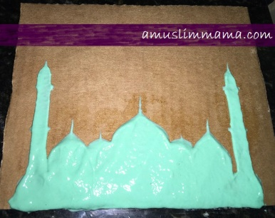 Masjif puffy paint Ramadan craft (8)