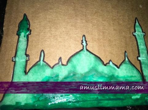 Masjif puffy paint Ramadan craft (9)
