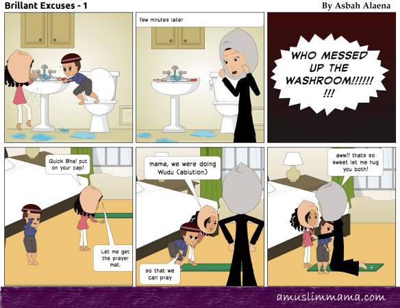 Muslim toddler comic - Brilliant excuses.png