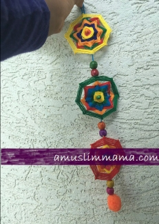 najmat al-Quds Ramadan Craft wall art using floss (11)
