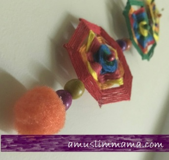 najmat al-Quds Ramadan Craft wall art using floss (12)
