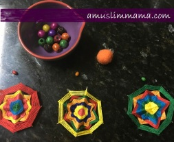 najmat al-Quds Ramadan Craft wall art using floss (8)