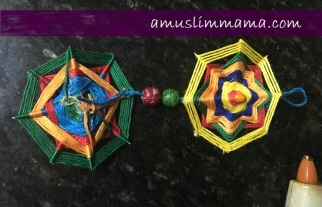 najmat al-Quds Ramadan Craft wall art using floss (9)