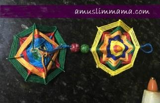 najmat al-Quds Ramadan Craft wall art using floss (9)