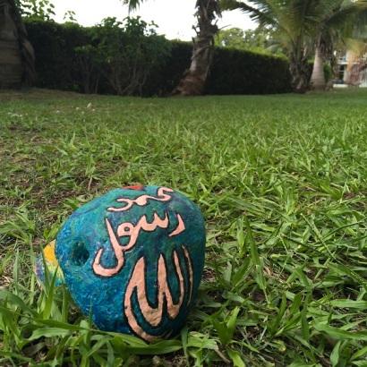 Rock crayon painting for Ramadan craft (11)