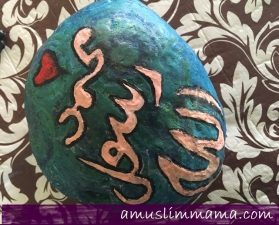 Rock crayon painting for Ramadan craft (8)