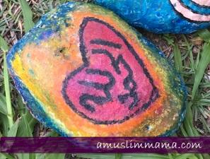 Rock crayon painting for Ramadan craft (9)