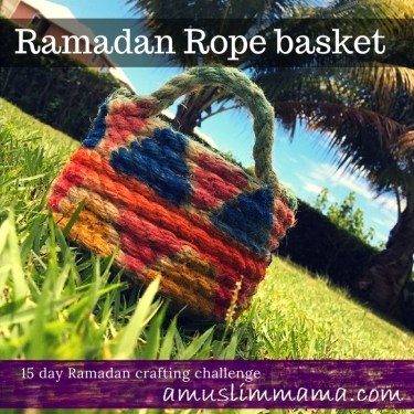Rope basket diy for Ramadan craft (3)