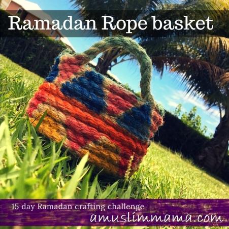 Rope basket diy for Ramadan craft (3)