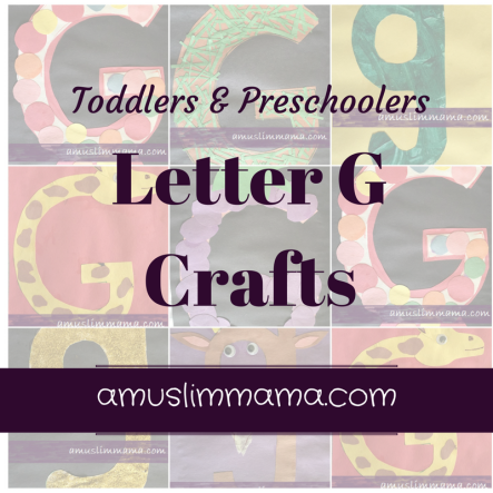 Letter G Crafts for toddlers & Preschoolers (1)