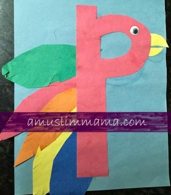 Toddler & Preschooler Letter P crafts (1)