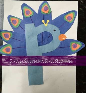 Toddler & Preschooler Letter P crafts (4)