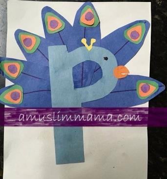 Toddler & Preschooler Letter P crafts (4)